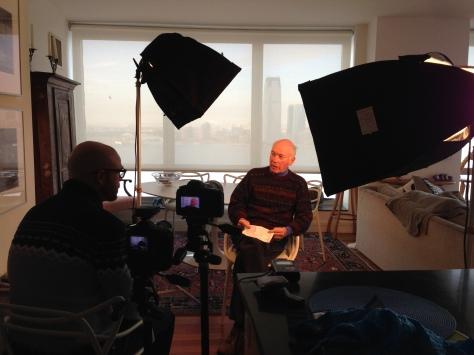 Interviewing John Pierce in NYC.