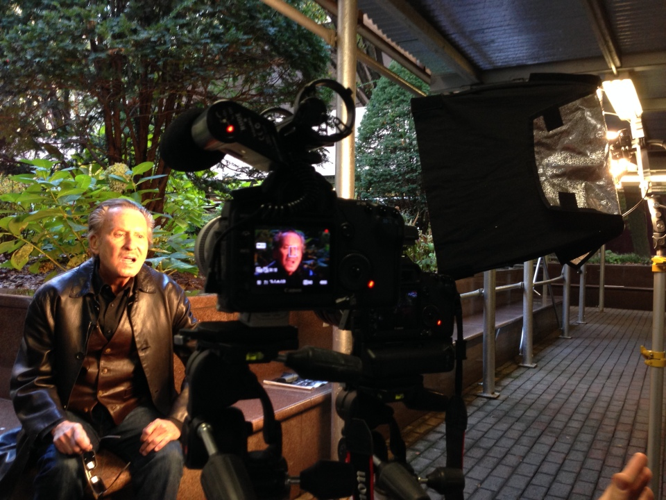 Interviewing  Maurice Tuchman in NYC.